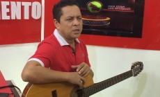 Jorge El Pitufo´' Valbuena, con sus canciones en el Festival Vallenato