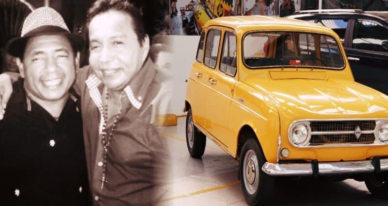 Diomedes y Juaco Guillen en el Renault 4
