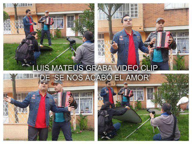 LUIS MATEUS GRABA VIDEO CLIP DE 'SE NOS ACABÓ EL AMOR'
