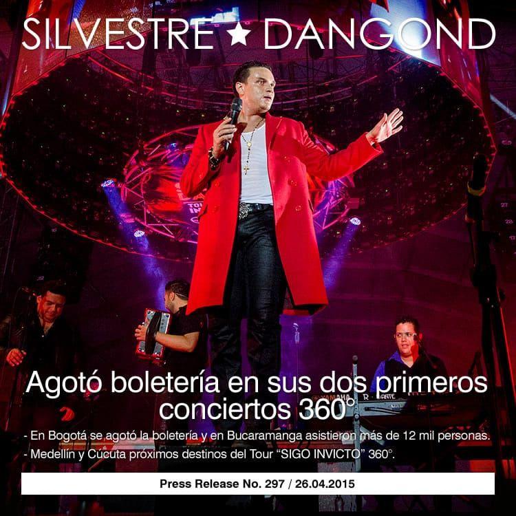 SILVESTRE DANGOND agotó boletería en sus dos primeros conciertos 360°