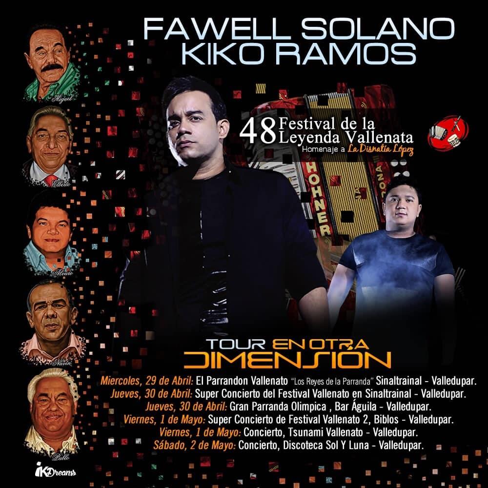 Fawel Solano y Kiko Ramos, estarán 'En otra dimensión' en los grandes conciertos del Festival Vallenato