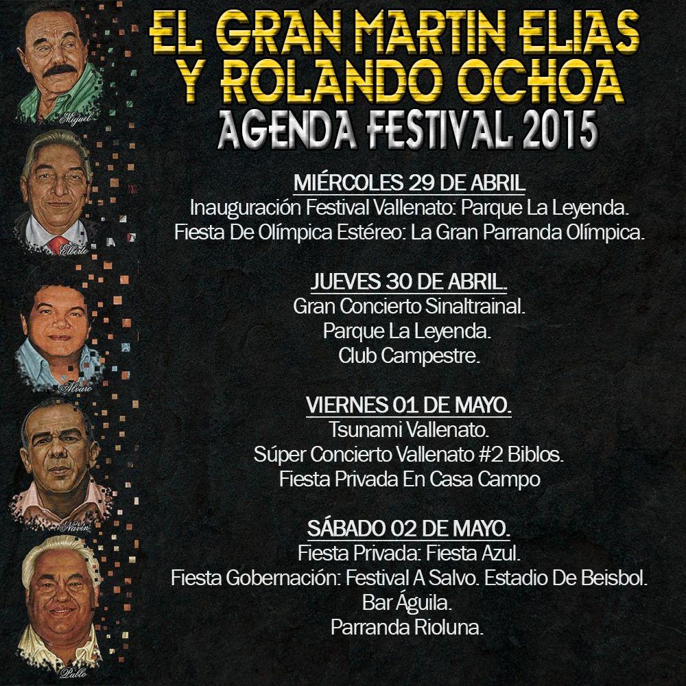 El Gran Martín Elías y Rolando Ochoa Les Dan La Bienvenida Al Festival Vallenato