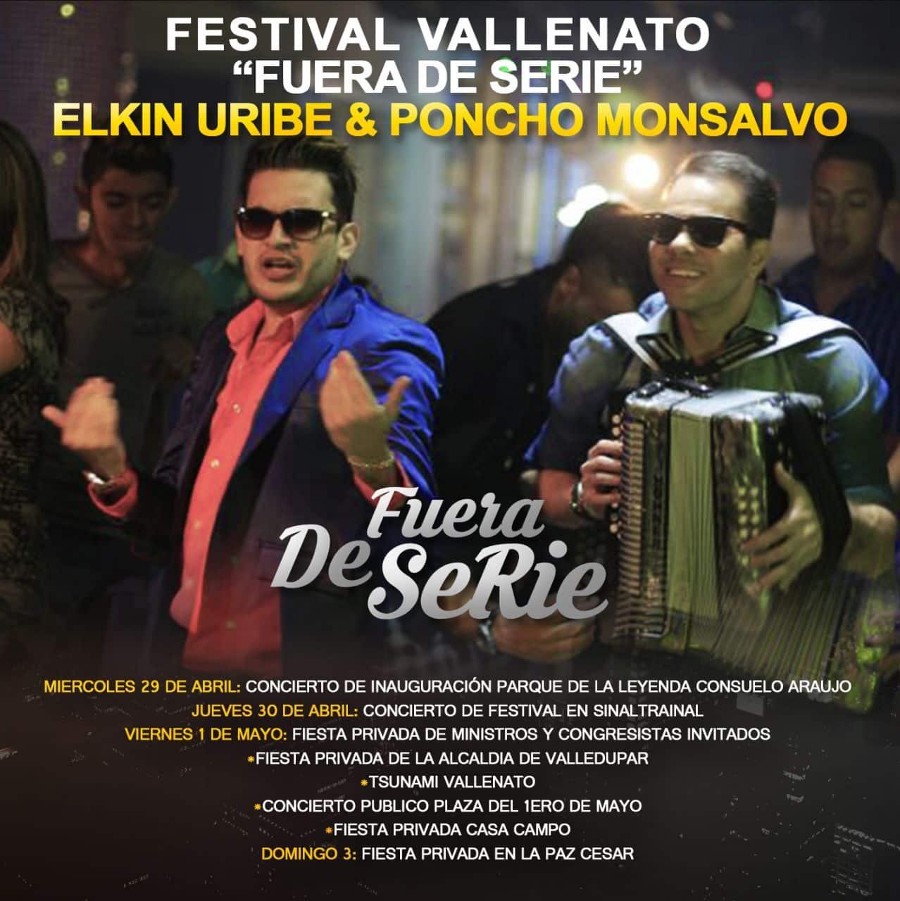 Un Festival Vallenato 'Fuera de Serie' para Elkin Uribe y Poncho Monsalvo