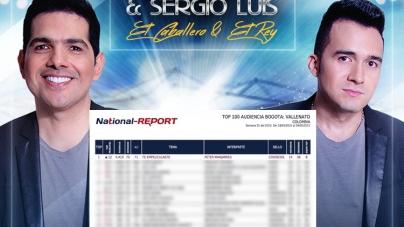 Peter Manjarres & Sergio Luis Rodriguez son #1 en Bogotá con Te Empeliculaste