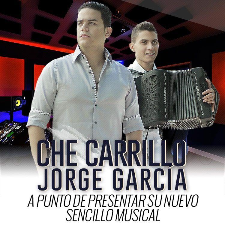 Che Carrillo a punto de presentar su nuevo sencillo musical al lado de Jorge Garcia