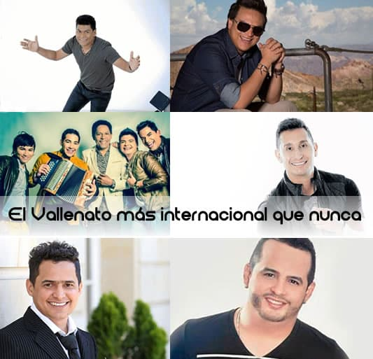Alex Manga, Silvestre Dangond, El binomio de Oro, Hebert Vargas, Jorge Celedon, Nelson Velásquez