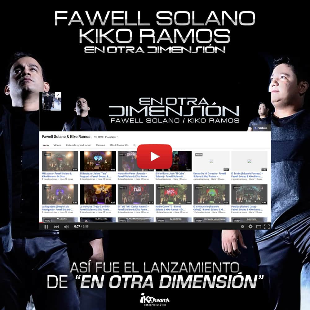 Así fue el lanzamiento de 'En Otra Dimensión' de Fawell Solano & Kiko Ramos