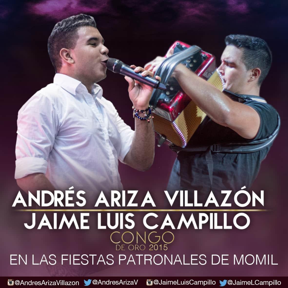 Andrés Ariza Villazón y Jaime Luís Campillo en las fiestas patronales de Momil