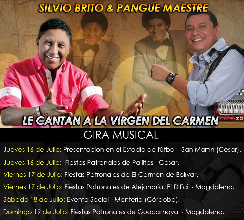 Silvio Brito le canta a la Virgen del Crmen