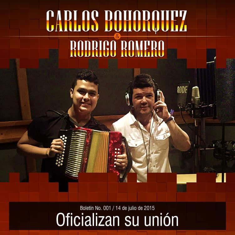 CARLOS BOHORQUEZ & RODRIGO ROMERO oficializan su unión