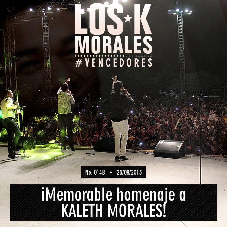 ¡Memorable homenaje a KALETH MORALES!