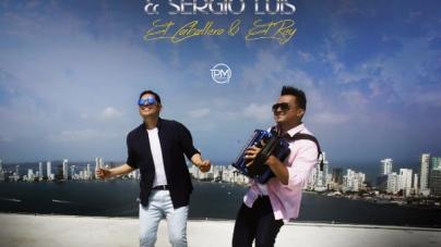 Peter Manjarres y Sergio Luis Rodriguez en Maratónica Grabación del video de Sin Palabras
