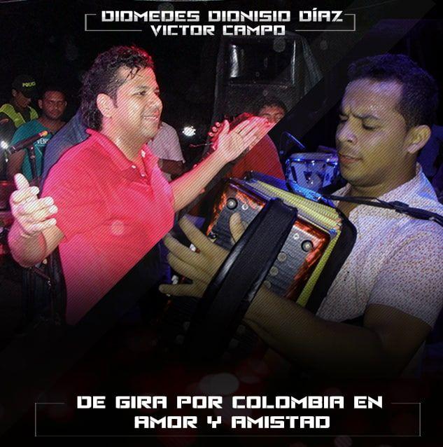 Diomedes Dionisio Diaz de gira por Colombia en Amor y Amistad
