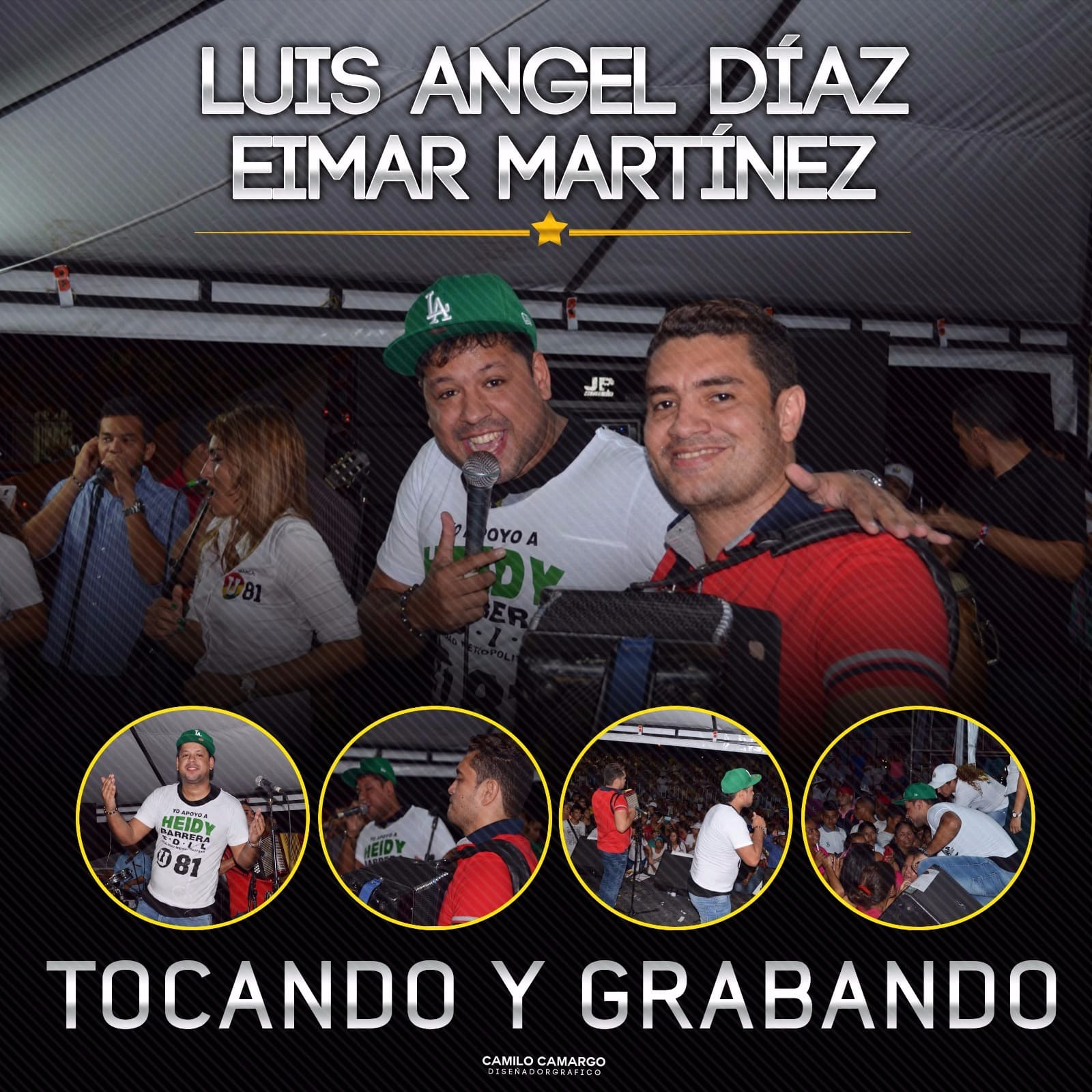 LUIS ANGEL DÍAZ & EIMAR MARTÍNEZ TOCANDO Y GRABANDO