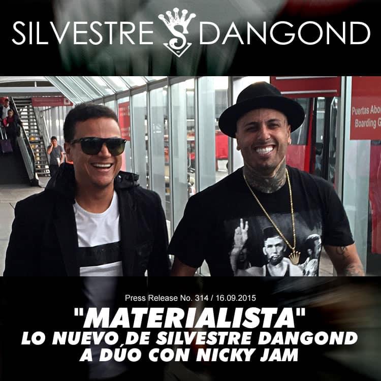 """""""MATERIALISTA"""", lo nuevo de SILVESTRE DANGOND a dúo con Nicky Jam"""