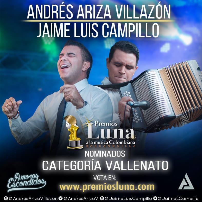 Andrés Ariza Villazón y Jaime Luis Campillo Nominados a Premios Luna