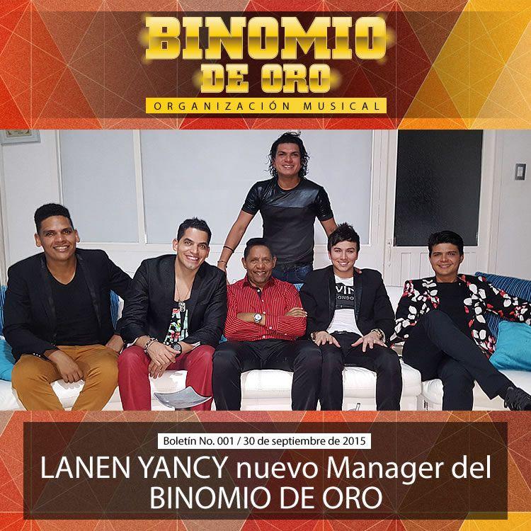LANEN YANCY nuevo Manager del BINOMIO DE ORO