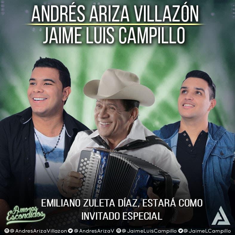 Emiliano Zuleta Díaz, estará como invitado especial en el álbum de Andres Ariza Villazón y Jaime Luís Campillo