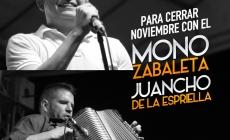 Mono Zabaleta & Juancho de la Espriella cierran Noviembre en Sucre y Antioquia