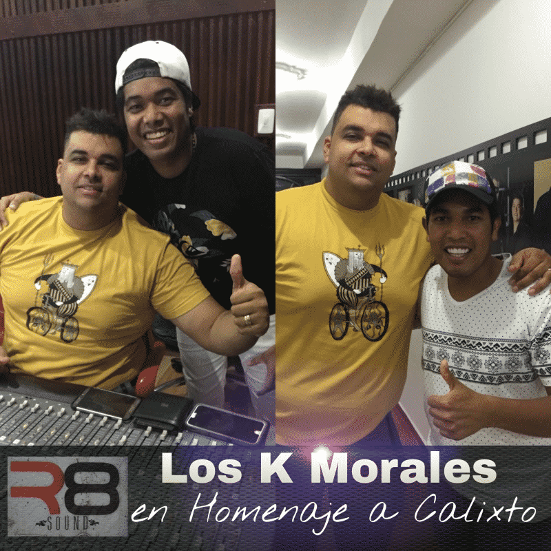 Los K Morales grabando homenaje a Calixto Ochoa