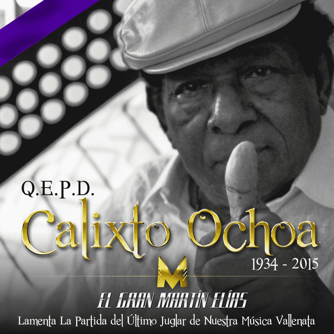 Maritin Elias lamenta muerte de Calixto Ochoa