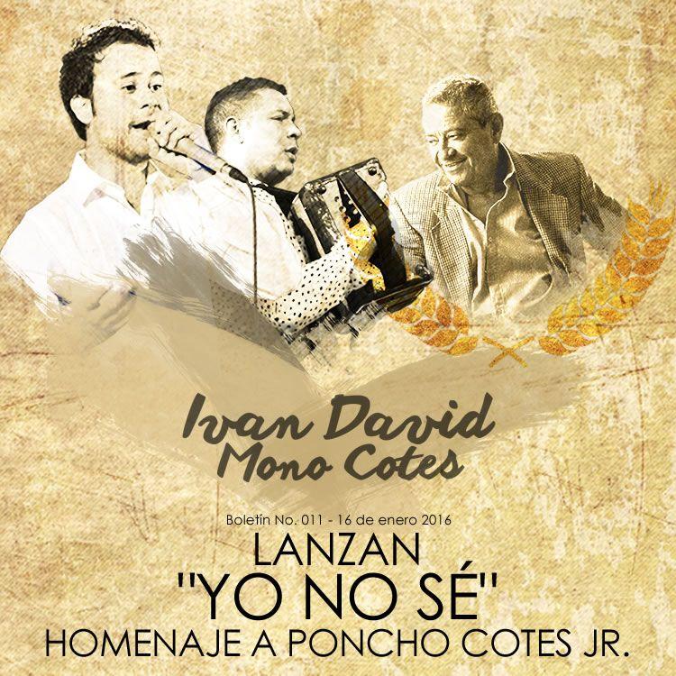 Yo no sé - IVÁN DAVID VILLAZÓN & MONO COTES via @vallenatoalcien