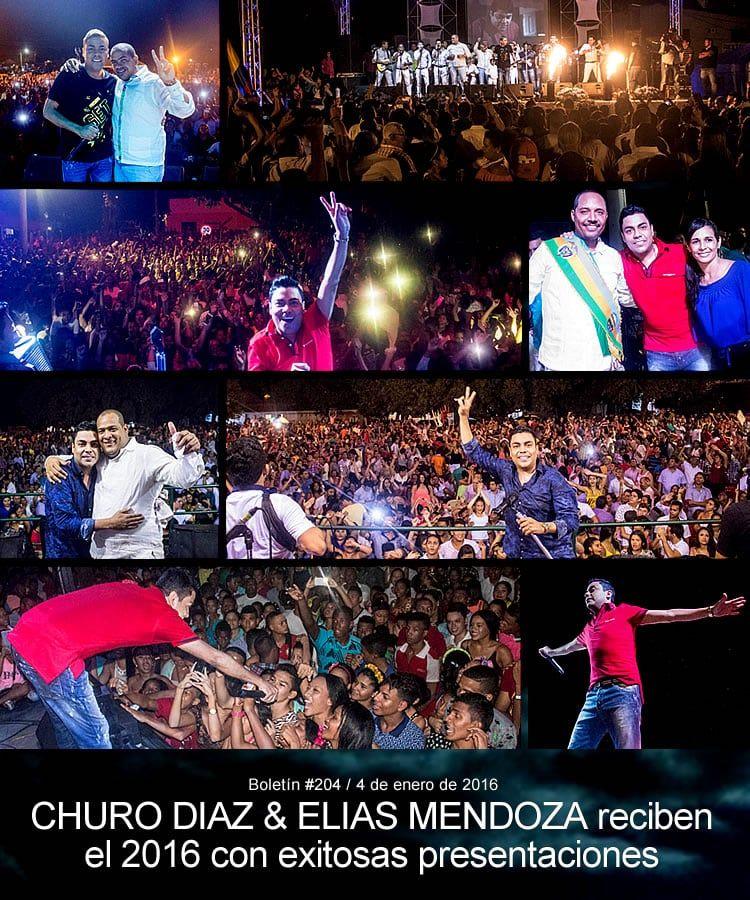 CHURO DIAZ & ELIAS MENDOZA reciben el 2016 con exito