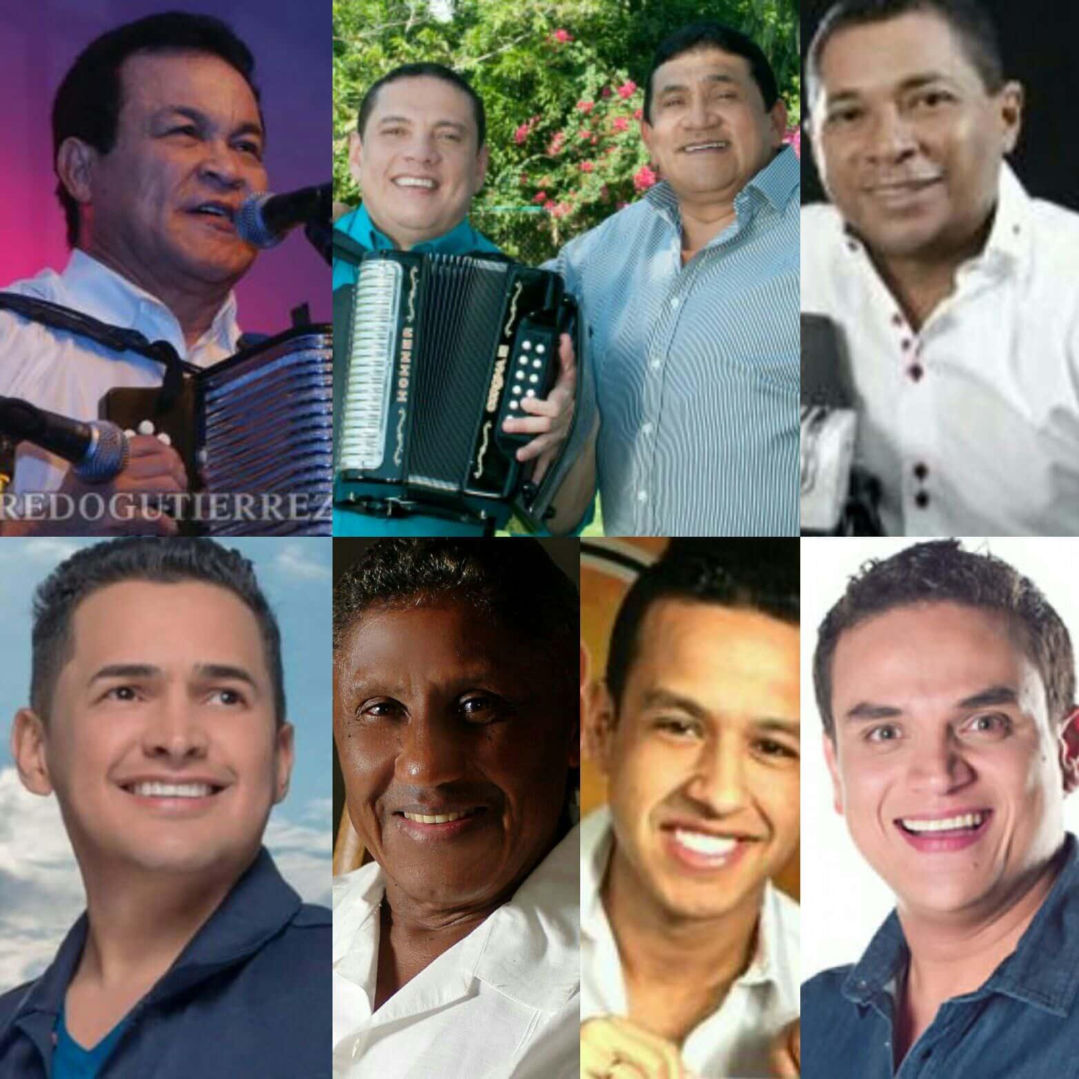Jorge Celedon, Silvestre Dangond, El Gran Martin Elías, Silvio Brito, Poncho Zuleta y Alfredo Gutiérrez