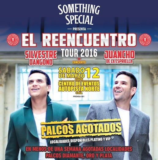 Tour el Reencuentro Silvestre Dangond y Juancho