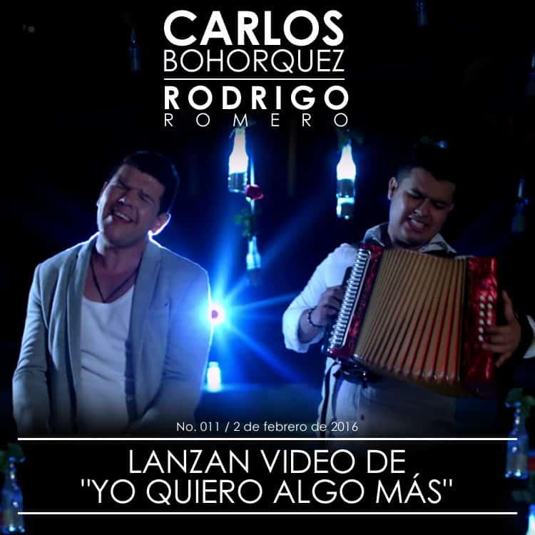 """Carlos Bohorquez & Rodrigo Romero lanzan el vídeo """"Yo quiero algo más"""""""