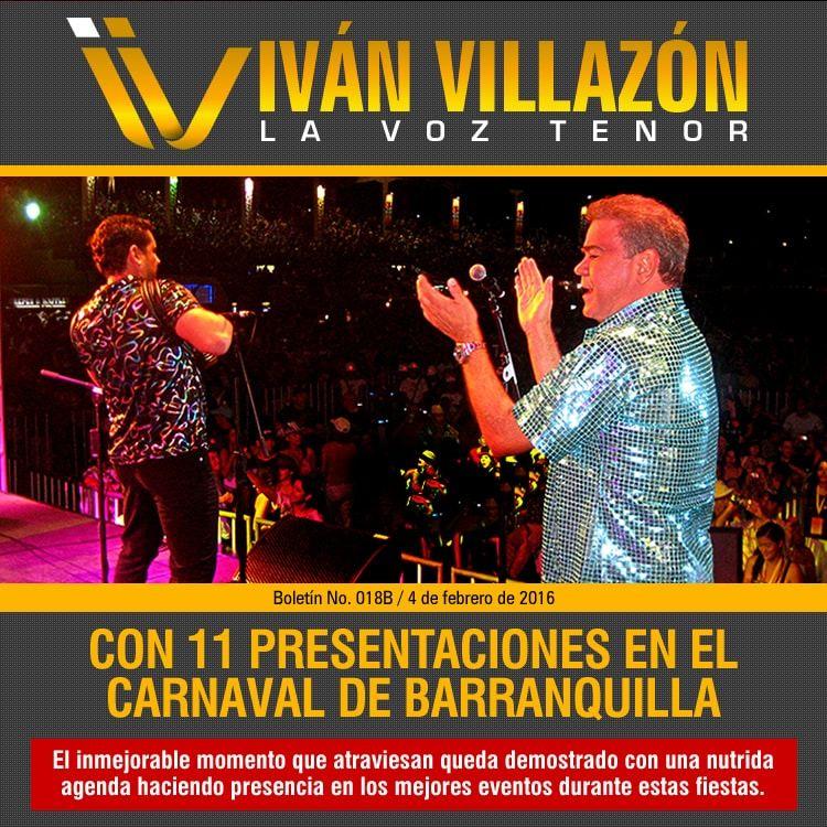 IVÁN VILLAZÓN & SAÚL LALLEMAND con 11 presentaciones en el Carnaval de Barranquilla