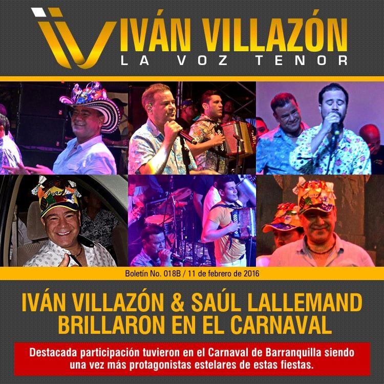 IVÁN VILLAZÓN & SAÚL LALLEMAND brillaron en el Carnaval