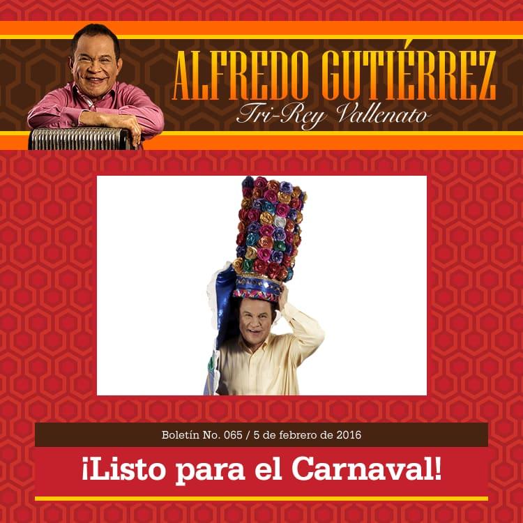 Alfredo Gutierrez listo para el carnaval de barranquilla