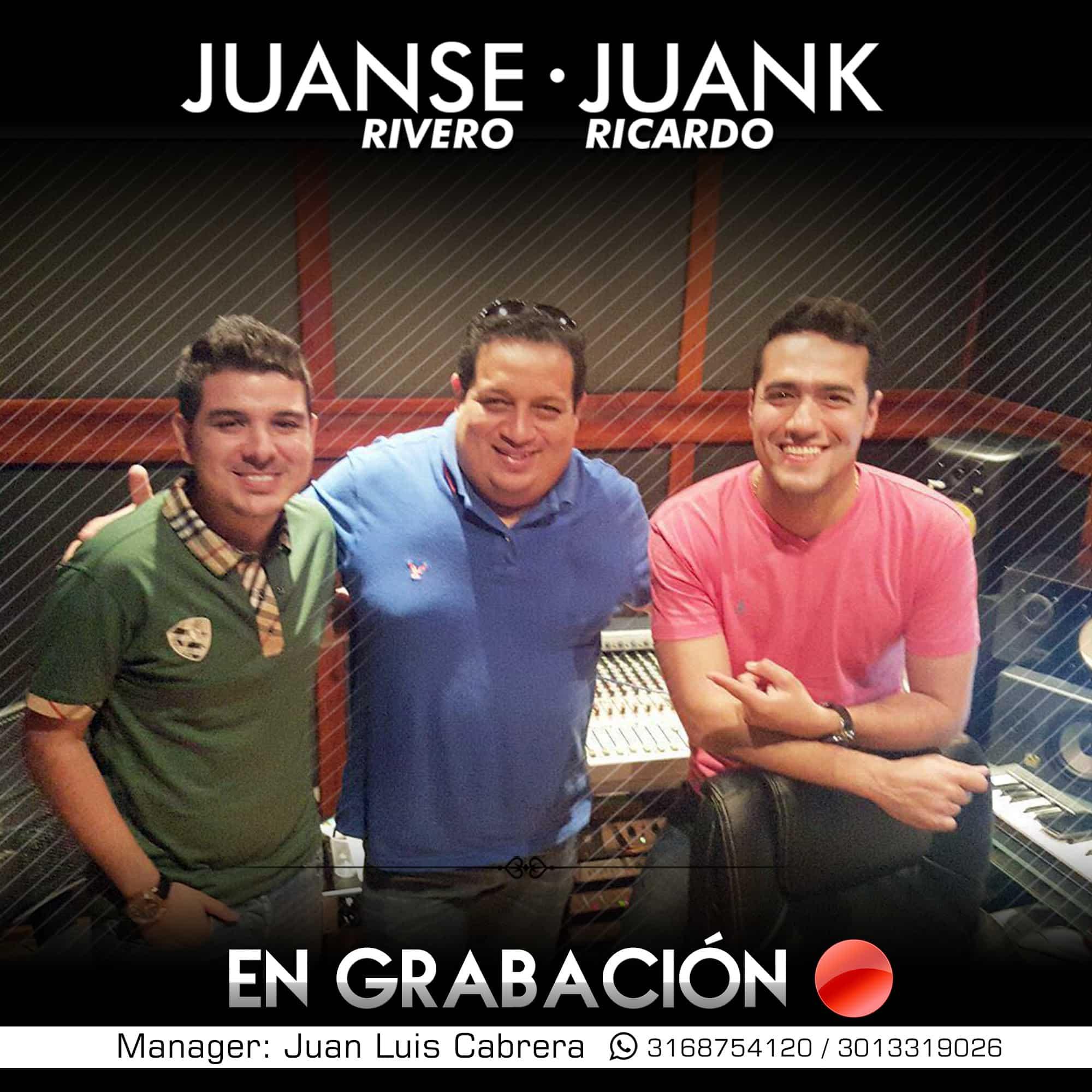 Juanse Rivero y Juank Ricardo graban su primer álbum en Barranquilla
