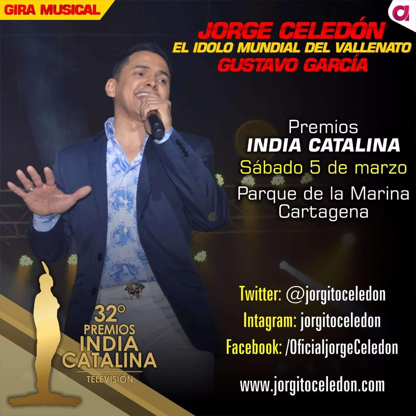 JORGE CELEDON EN LOS PREMIOS INDIA CATALINA