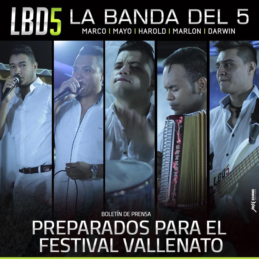 La banda del 5 preparados para el ¡Festival vallenato!