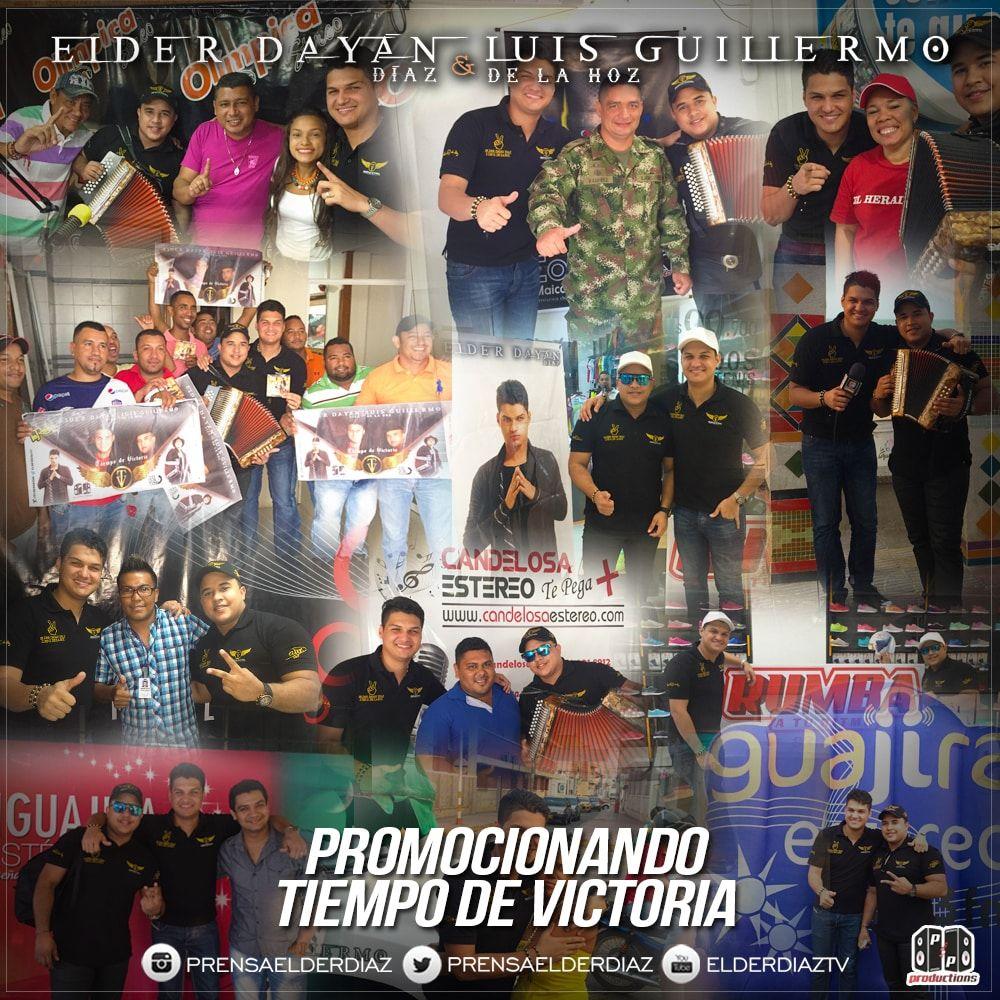 Elder Dayan Diaz y Luis Guillermo promocionando Tiempo de victoria
