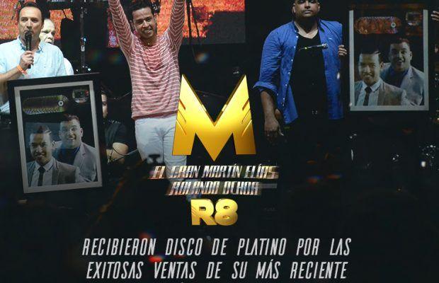 Martín Elías & Rolando Ochoa recibieron disco de platino