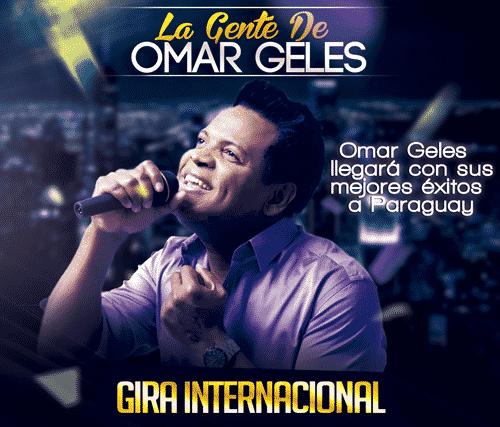Omar Geles llegará con sus mejores éxitos a Paraguay