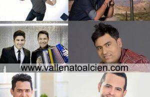 Alex Manga,Silvestre Dangond,Dubán Bayona,Luis Mateus,Jorge Celedon,Nelson Velasquez VALLENATOALCIEN