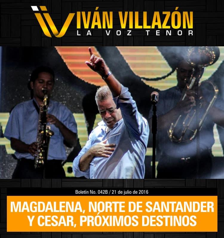 Magdalena, Norte de Santander y Cesar, próximos destinos de Iván Villazón