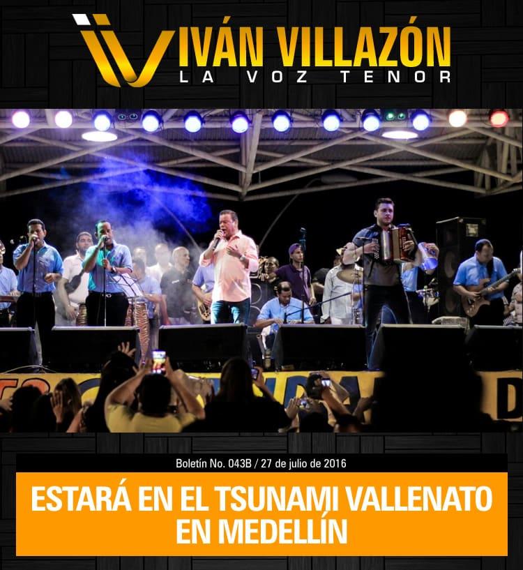 Iván Villazón en el Tsunami Vallenato en Medellín