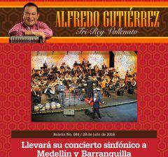 Alfredo Gutiérrez llevará su concierto sinfónico a Medellín y Barranquilla