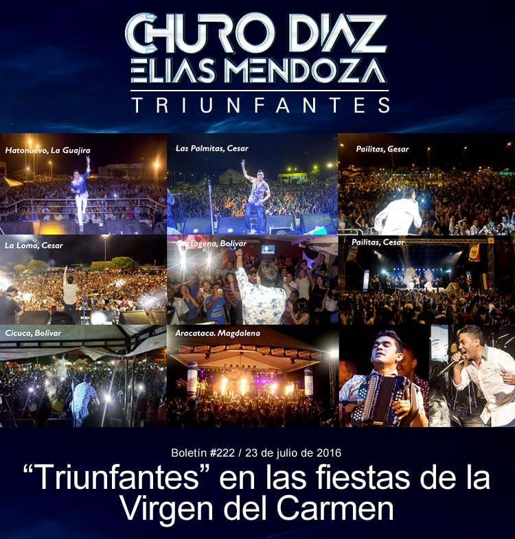 """CHURO DIAZ & ELIAS MENDOZA """"Triunfantes"""" en las fiestas de la Virgen del Carmen"""