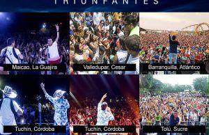 """Maicao, Valledupar, Barranquilla, Tuchín y Tolú, vivieron el Tour """"Triunfantes"""" 2016"""