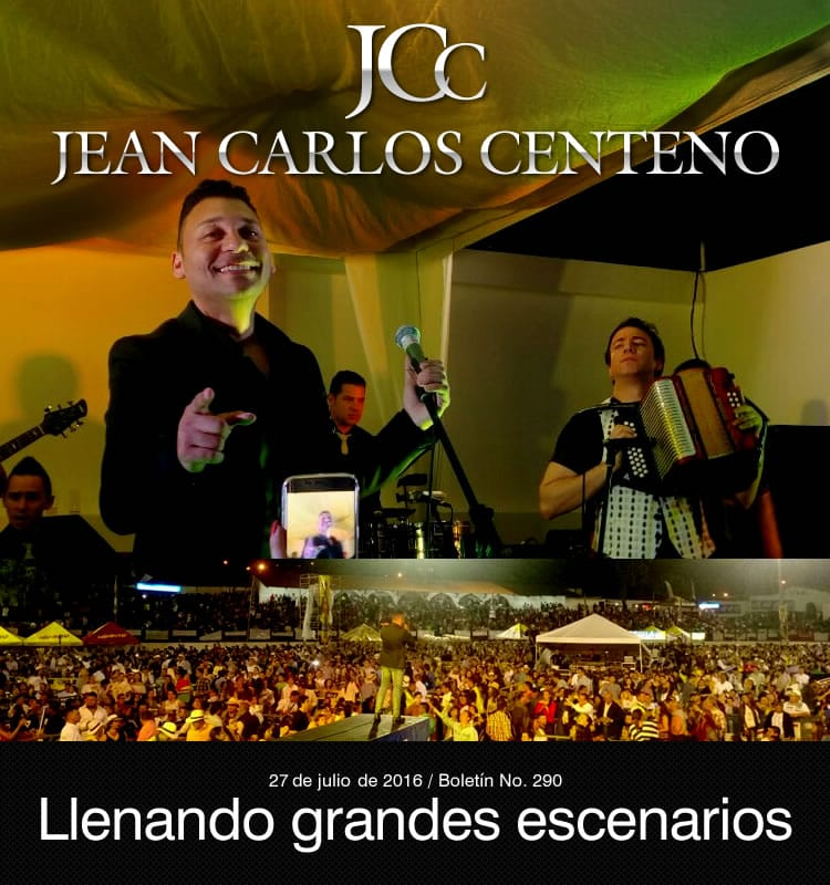 Jean Carlos Centeno llenando grandes escenarios
