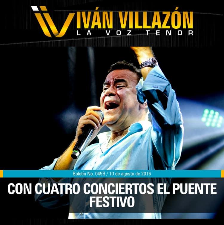 IVÁN VILLAZÓN con cuatro conciertos el puente festivo