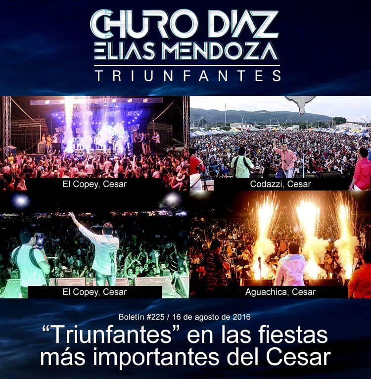 """Churo Diaz & Elias Mendoza """"Triunfantes"""" en las fiestas más importantes del Cesar"""