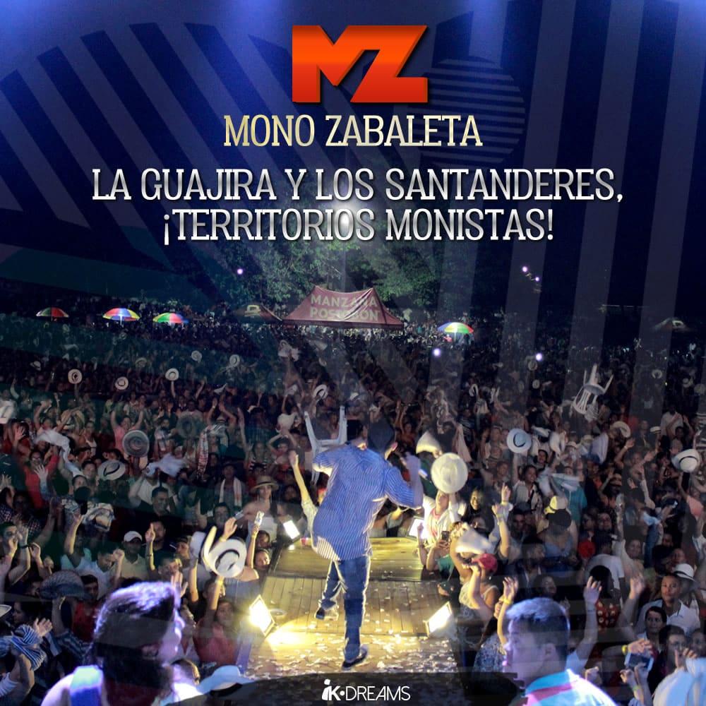 MONO ZABALETA LA GUAJIRA Y LOS SANTANDERES, ¡TERRITORIOS MONISTAS!