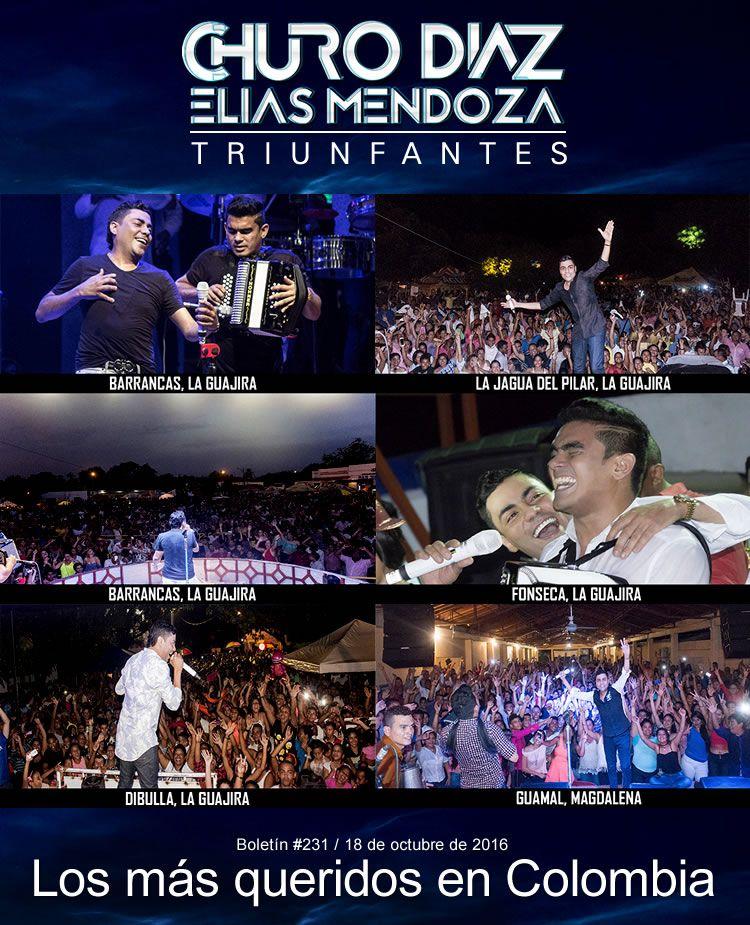 Churo Díaz y Elías Mendoza los más queridos en Colombia